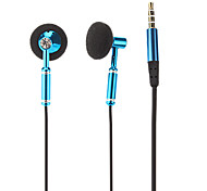 Co-Crea EV520 High Quality In-Ear Headphone with Mic for iPhone/Samsung/PC(Blue)