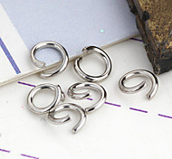 Durable Round Silver Alloy Clasps 200 Pcs/Bag