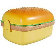 Cute Hamburger Lunch Box mit Löffel, W17cm x L10cm x H9cm
