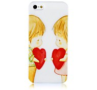 Two Children with Heart Pattern Silicone Soft Case for iPhone4/4S