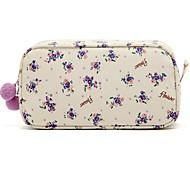 Quadrate Fresh Small Flower Purple Pattern con fluff Balls Make up / Cosmetici Bag Cosmetics bagagli