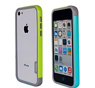 Fashion Double Color TPU Bumper Frame for iPhone5C(Yellow+Blue)