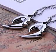 Персональный подарок Мужские украшения своих горный хрусталь Дизайн гравированные кулон ожерелье с 60 см цепи