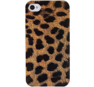 Brown Leopard Print modello ABS posteriore Case for iPhone 4/4S