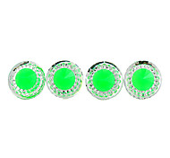 Fashion Round Clear Crystal With Green Acrylic Stud Earrings (1 Pair)