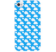 Simple Design White Cloud Around Pattern ABS Back Case for iPhone 4/4S