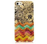 Stripe and Flower Pattern Back Case for iPhone 5/5S