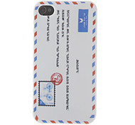 Luck Envelop Pattern Silicone Case for iPhone 4S (White)