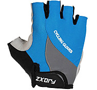 FJQXZ Unisex Shockproof Short Finger Blue Cycling Gloves