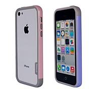 Fashion Double Color TPU Auto Frame für iPhone5C (Pink + lila)