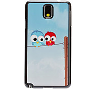 Cartoon Owls Decal Pattern Mirror Smooth Back Hard Case for Samsung Galaxy Note3 N9000