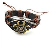 z&cuero negro X® tejidas a mano de la moda 24cm de los hombres&pulsera de cuero de la aleación (1 unidad)