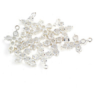 Sweet Cross Silver-Plated With Clear Rhinestone Charms 6 Pcs/Bag