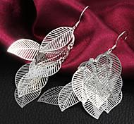 presente para namorada sai de moda prata queda cadeia banhado brincos (1 par)