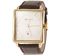 Simple Calendrier des hommes de cadran de place en cuir PU bande de quartz analogique montre-bracelet