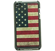 Retro USA Flag  Pattern Hard Case for iPod touch 4
