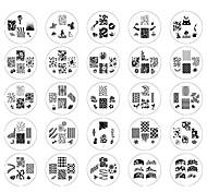 25PCS 2014 Новый стиль ногтей штамп штамповка изображения Костюмы шаблонов