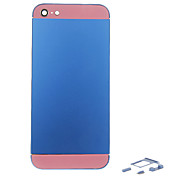 Navy Metal Alloy Back Battery Housing with Button and Pink Glass For iPhone 5