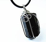 cuidar da saúde (pedra jet) colar de poder preto jóia (1 pc)