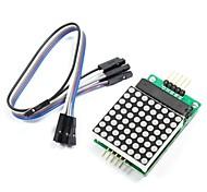 MAX7219 red dot matrix-module met 5-dupont lijnen voor (voor Arduino) (werkt met officiële (voor Arduino) boards)