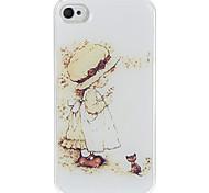 La Niña Para Ore Patrón Hard Case de epoxy para el iPhone 4/4S