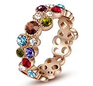 Crystal Multi-Color Fashion Ring