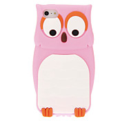 Cute Owl Style Protective Silicone Back Case for iPhone 5/5s