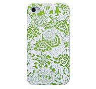 De papel de corte Diseñado Case Full Body Verde para iPhone 4/4S