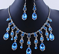 Wedding Elegant Rhinetone Crytal Earring & Necklace Jewelry et