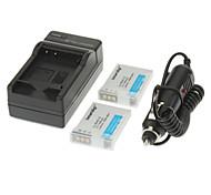 ismartdigi 1050mAh Camera Battery(2pcs)+Car Charger for NIKON S8200 S9100 S6000 S6200 S6300 S8100