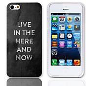 Hier und Jetzt Entwurfs-harter Fall mit 3-Pack-Display-Schutzfolien für das iPhone 5/5S