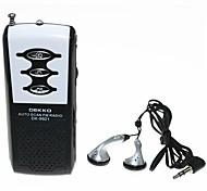 DEKKO DK-9921 Sports Mini Auto Scan FM Radio w/ Stereo Earphone - Black