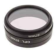 CPL + UV + Filtro FLD Ajuste para la cámara con filtro de bolsa (37 mm)