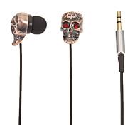 TM01 Skull-Shaped Stereo In-Ear Headphone(Red Eyes)