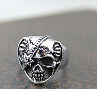 Z&X®  Punk Silver Alloy Cyclopia Skull Men's Statement Rings(1 Pc)