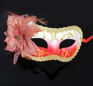Orange Flower Purfle Plastic Half-face Mask