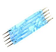 5PCS 2-Way Nail Art che punteggia Blue Waves Manipolare Dot Tools Kit
