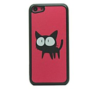 Hard Case Red Terra Big-Eye Kitten Disegno Pattern for iPhone 5C