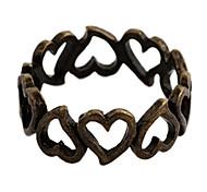 Bronze d'alliage d'anneaux de l'Énoncé de femmes vintage Boucles coeur (1 PC)
