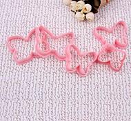 DIY 5Pcs/Set Розовый форме бабочки различных форматов HI-Q Пластиковые Печенье Cookie Cutter