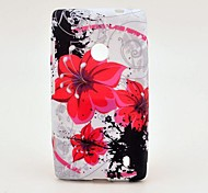 Red Amaryllis Pattern TPU Soft Case for Nokia Lumia N520
