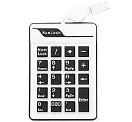 19 USB Número alambre impermeable de silicona cable retractable del teclado (colores surtidos)