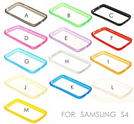 Solid Color TPU Soft Bumper Frame for Samsung Galaxy S4 i9500