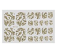 22PCS Abstract Pteris Pattern Toenail Art Sticker TJ Sery No.16