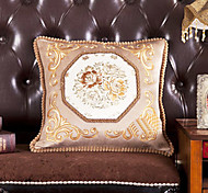 Euro Flower Pattern Decorative Pillow With Insert-2 Color Available
