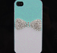 Grill Elegant Bowknot Pattern Back Case for iPhone 4/4S(Assorted Color)
