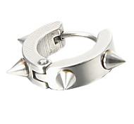 presente para namorado Punk (rebite) de aço titânio prata brincos (1 pc)