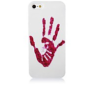 Red Palm Print Pattern Silicone Soft Case for iPhone5/5s