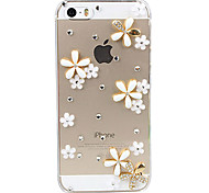 Fondello trasparente Flowers 3D decorato per iPhone 5/5S