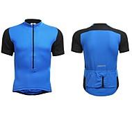 Jaggad Summer Unisex Black Blue Polyester Spandex Rear Pocket Cycling Jersey